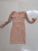 Used Metal sequins dress Golden size M in Dubai, UAE
