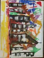Used Abstract Vibrant Painting in Dubai, UAE