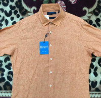 Used Men's Haspel Oak Classic Fit Button-Down Shirt,Amber Color  in Dubai, UAE