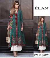 Used Brand Elan Available In Lawn Fabrics 3pc in Dubai, UAE