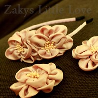 Used Pink Flower Hairband Set in Dubai, UAE