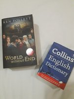 "Used Ken Follet ""World without end"" + gift in Dubai, UAE"