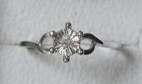 Used New real diamond ring, silver, size 7us in Dubai, UAE