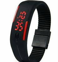 Wrist Silicone Band  Touch Screen Red Light Sports Watch