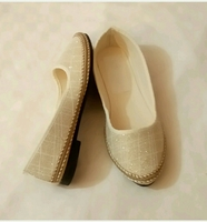 Flat Shoes Golden Color Size36 New