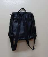 Used Anti theft soft leather bag black in Dubai, UAE