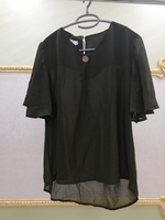 Used OLIVE GREEN CHIFFON BLOUSE XL in Dubai, UAE