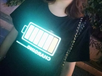 Used Unisex LED lights T-Shirt (L) in Dubai, UAE