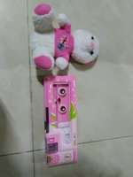 Used Pencil case, with free teddy bear, pink in Dubai, UAE
