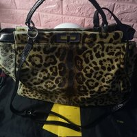 Used Preloved Fendi Leopard Peekaboo Leather in Dubai, UAE