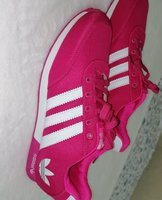 Used Adidas shoes pink and white size 43- 44 in Dubai, UAE