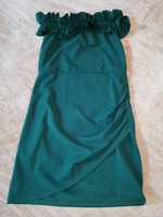 Used Quiz off shoulder green dress for 25AED in Dubai, UAE