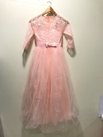Used NEW Flower Girl Dress Pink Length 110cm in Dubai, UAE