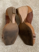 Used Schultz Heel Brown Shoes Leather - Sz 38 in Dubai, UAE