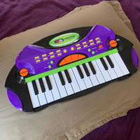 Piano toy with tempo & adjustable sounds