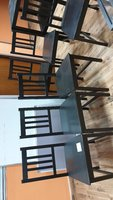 Used 6 wood chairs in Dubai, UAE