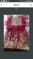Fully embroided frock with sharara