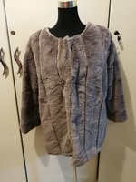 Super soft grey coat for her size L