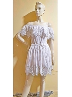 Used White off shoulder beach dress-small siz in Dubai, UAE