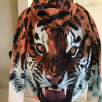 Used 3D Tiger printed unisex hoodie in Dubai, UAE