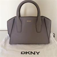 DKNY Grey Leather Small Top Handle Bag. 100% Original. Brand New Still With Tag. Was A Gift. Comes In Dust Bag. Also Has Detachable Shoulder Strap.