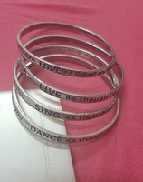Used Unisex Silver Bangles 8 pcs in Dubai, UAE