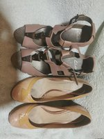 Used Women 4 pc Clark's newlook leather shoes in Dubai, UAE