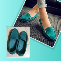 Used New green loafer size 39 for her in Dubai, UAE
