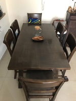 Used Solid wood Dining table with 6 Chairs in Dubai, UAE