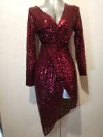 Used Beautiful red maroon sequin short dress in Dubai, UAE