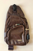 Used Leather Chest Bag with USB Outlet  in Dubai, UAE