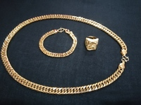 Used Men's dragon Gold plated jewelry 3 pcs in Dubai, UAE