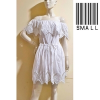 Used White offshoulder dress-small size--- in Dubai, UAE