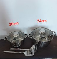 Used Stainless steel Cookware set New))😁 in Dubai, UAE