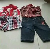 Used #0-3Mnths #Boys Jeans#Jeans N #Shirt N The Shorts N Cotty Are worn Once Just Inner Tshirt Is Used  in Dubai, UAE