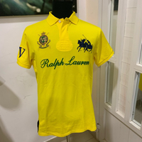 Polo T-shirt Yellow #authentic L NEW