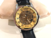NEW Men's Hollow mechanical Watch Gold