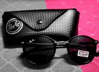 Used Ray Ban sunglasses +carbon fibre case in Dubai, UAE