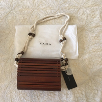 Used ZARA wooden bag (new with tags) in Dubai, UAE