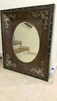 Used Real Wood Classic Mirror 100x84x7.7CM in Dubai, UAE