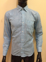 Used Blue small stripes shirt - Size 38 in Dubai, UAE