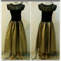 Used New Amazing Black golden Dress in Dubai, UAE