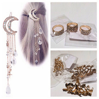 Used Bundle of 9 items 6 rings and 3 hairpins in Dubai, UAE