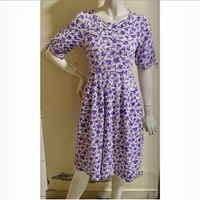 Used Purple floral dress-small size in Dubai, UAE