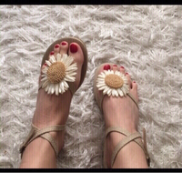 Used New summer sandals with flower (size 39) in Dubai, UAE