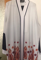 Used Abaya in blue and white combination  in Dubai, UAE