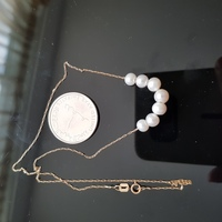 18k gold necklace with real pearls