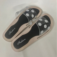 Used Jelly Summer Slipper Polka Dots Black/39 in Dubai, UAE