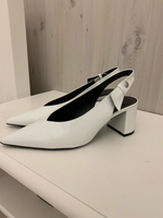 Used New 39 block white heels from Zara  in Dubai, UAE