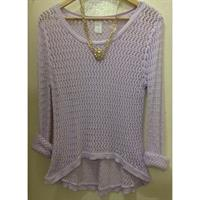 Used Lavender Knitted Pullover in Dubai, UAE
